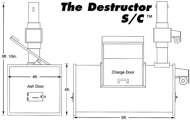 Destructor S/C swine and poultry incinerator drawings